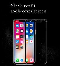 Anti-arañazos Negro/vidrio inastillable/huella digital pantalla completa Protector para iPhone X