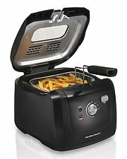 Hamilton Beach Deep Fryer w/ Cool Touch 2 Liter Oil Capacity Lid Kitchen Cooker