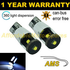 2x W5W T10 501 Errore Canbus libero BIANCO 3 CREE LED INTERIOR LAMPADINE il103201