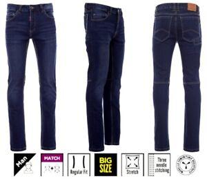 Herren Jeans Denim Stretch blau stonewashed bis Größe 74 Arbeits- Freizeithose