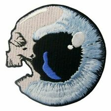 Embroidered Patches Iron Sew on Patches Transfers Badges Appliques Skull Eye 555
