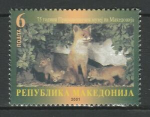 Macedonia 2001 Fauna Fox MNH stamp