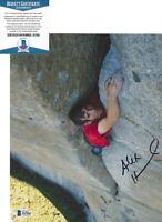 ALEX HONNOLD SIGNED FREE SOLO ROCK CLIMBER CLIMBING 8x10 PHOTO BECKETT BAS COA