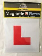 2 PIECE MAGNETIC L PLATE CAR LEARNER SIGN STICKERS VEHICLE STICKER