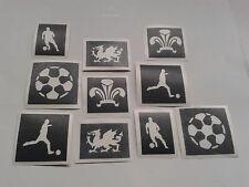 Wales football glitter tattoo stencil (mix) feathers dragon footballer Welsh