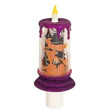 Halloween Candle LED Witch Scene Night Light