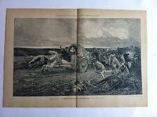 Déroute de CHOLLET tableau J.GIRARDET Gravure exposition universelle PARIS 1889