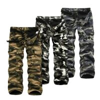 Mens Camouflage Trousers Pants Combat Military Cargo Work Winter Warm Camo Lot
