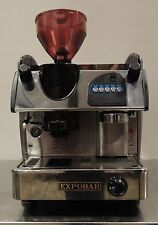 COMMERCIAL ESPRESSO COFFEE MACHINE  MINI CONTROL 1GR WITH GRINDER WOOD