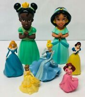 Disney Princess Toy Doll Figure Lot Tiana Jasmine Ariel Cinderella Aurora Belle