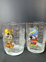 Walt Disney World Millenium 2000 Glasses (McDonald's) Mickey Mouse Set of 2