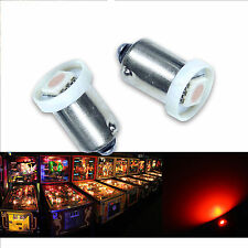 50x #1893 #44 #47 #1847 BA9S 1 SMD LED Pinball Machine Light Bulb Red 6.3V P2