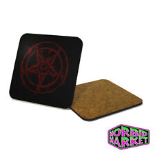 Baphomet Coaster Halloween Horror Gothic Goth Occult Satan Pentagram MULTI BUY