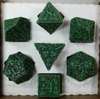 Q-Workshop Forest Green Dice Set |Dungeons and Dragons | LARP | RPG