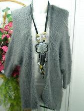 38/40 Nouveau Mode Velu * CHAUVE-SOURIS * CARDIGAN * Gilet * cardigan * Flausch peluche gris