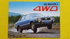Subaru 4WD Sedan Station Wagon Hatchback MV DL GL brochure catalogue 1982 MINT