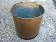 Antique Bucket Copper Tool Antique of Countryside Farmer Deco Chalet Mountain