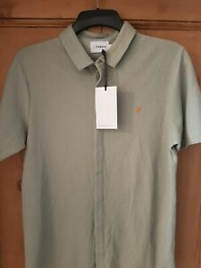 MENS FARAH T-SHIRT SIZE MED FOREST GREEN SOFT WAFLE COTTON RRP £39.99