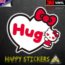 Sanrio Hello Kitty Hug Luggage Bumper Scooter Skateboard Decal Vinyl Sticker