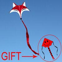 NEW 0.9m ainimal RED Fox Kite outdoor fun sports novetly Children's family toys