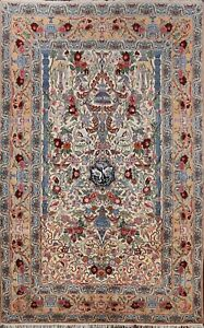 Masterpiece Wool/Silk City of Bird 6x8 Isfahaan Vegetable Dye Oriental Area Rug