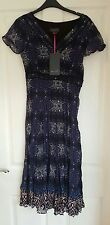 New With Tags! Per Una Purple/Blue Leopard Print Lined Dress Sz 10(summer,bbq)