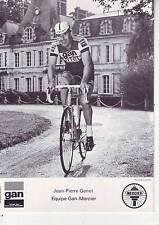 CYCLISME carte cycliste JEAN PIERRE GENET équipe GAN MERCIER 1976