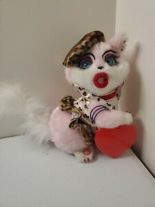 RARE GEMMY Sassy Cat Be My Baby Singing Dancing Lights Valentine Music Plush HTF