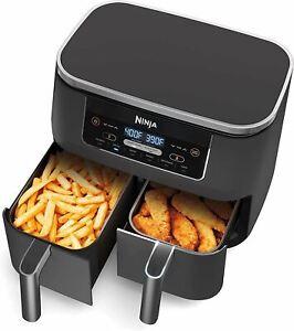 Ninja DZ201 Foodi 6-in-1 2-Basket Air Fryer with DualZone Technology, 8-Quart Ca