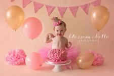 cute baby girl first birthday outfit cake smash tutu and crown Any colour