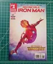 Invincible Iron Man 1 (2016) NM+ Cover App Riri Williams IRONHEART Marvel Disney