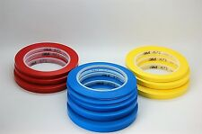 3M™ 471 Vinyl Tape Blue, Red and Yellow Masking Tape, Decoration Tape 33m Long