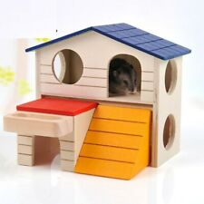 Cute Rat House Wooden Hamster Ladder Pet Small Animal Rabbit Mouse Hideout Nest