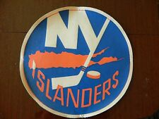 "1970s New York Islanders crest HUGE 11"" in round Really Unique NHL patch vintage"