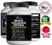 Premium Collagen Peptides Pills Hydrolyzed Anti-Aging (Types I,II,III,X)