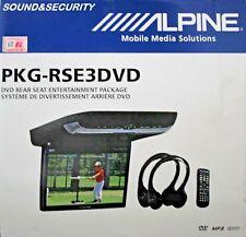 "ALPINE PKG-RSE3DVD 10.2"" flip down video monitor w/ built-in DVD player BRANDNEW"