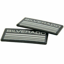 2x Cab Emblem Badge Side Roof Pillar Decal Plate For Chevy Silverado