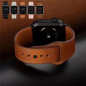 Genuine Leather Watch Band Strap for Apple iWatch Series 6 5 4 3 2 1 SE 38/42MM