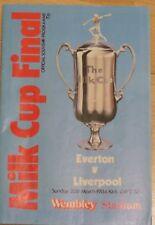 EVERTON LIVERPOOL MILK LEAGUE CUP FINAL PROGRAMME 1984