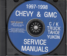 1998 GMC Chevy CK Truck Shop Manual CD Pickup Suburban Tahoe Yukon Service