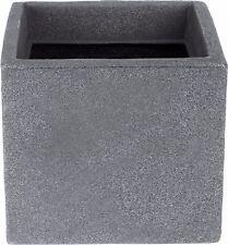 Cubo Fioriere Vaso grigio effetto pietra 20cm SQUARE Windowbox indoor outdoor