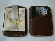 NUOVO Ultra Sottile Premium in Pelle Soldi Clip & titolare della carta di credito da uomo regalo