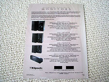 Klipsch Synergy Monitor series speaker brochure, #1