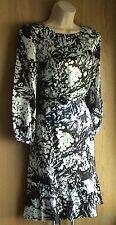 Karen Millen Soft Silk Floral Print Dress UK 10 12 16 Bow Keyhole DQ053 10