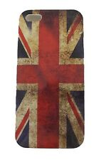 COVER IPHONE 5 PLASTICA BANDIERA INGHILTERRA GREAT BRITAIN FLAG VINTAGE UK