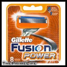 1x Gillette Fusion POWER Razor Shaving Blades (8 Cartridges) RRP$41.69 GENUINE