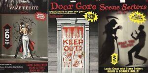 Halloween Door Wall Stickers Vampire Bite Floor Decal Decoration Party Scary