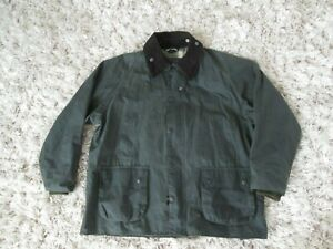 Barbour Men's Bedale Wax Cotton green Hunting Jacket Size 46 XL