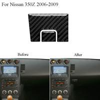 1Set Carbon Fiber Interior Side Door Handle Trim Cover For Nissan 350Z 2006-2009