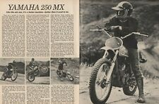 1973 Yamaha 250 MX Motorcycle Road Test - 4-Page Vintage Article